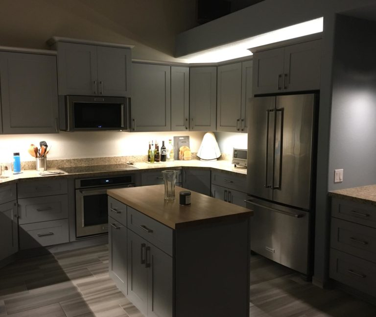 Kitchen with ThinLUX LED