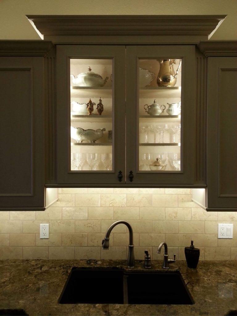 Traymark Glass Door Cabinet Above Sink